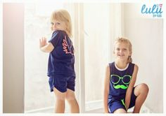 Little angel with her wings in navy blue PJ and navy blue mustache- lover! Best pyjama party ever! :D