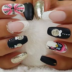 86 Best Christmas Nail Designs Images Fingernail Designs
