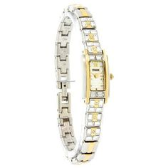 Pulsar Women's PEX534 Crystal Accented Dress Two-Tone Stainless Steel Watch Pulsar. $65.00. Brass case; silver dial. Accented with Swarovski crystals. Strong Hardlex crystal protects watch from excessive wear on dial. Water-resistant to 99 feet (30 M). Quality Japanese-quartz movement. Save 67%!