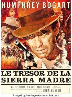 "Movie Posters:Film Noir, The Treasure of the Sierra Madre (Athos Films, R-1962). FrenchGrande (46"" X 61"") Yves Thos and Rene Ferracci Artwork.. ..."