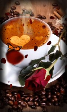 Good Morning Gift, Good Morning Coffee Gif, Good Morning Beautiful Pictures, Good Morning Roses, Morning Pictures, Merci Gif, Good Morning Sweetheart Quotes, Good Night Flowers, Good Morning Animation