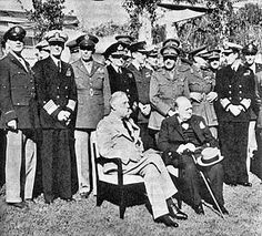 January 14,1943–World War II:Franklin D Roosevelt & Winston Churchill begin Casablanca Conference to discuss the war