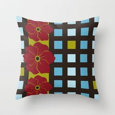 Poppies Throw Pillow cover by Ramon Martinez Jr - $20.00