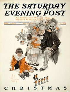 Christmas by J. C. Leyendecker, December 7, 1907, The Saturday Evening Post.