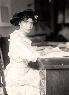 Alice Paul at Desk. 1915