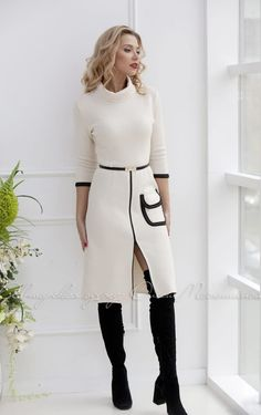 Classy Dress, Classy Outfits, Chic Outfits, Trendy Outfits, Fall Outfits, Office Dresses For Women, Clothes For Women, Look Blazer, Blazer Jacket