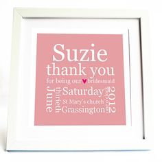 Great idea for bridesmaids gift