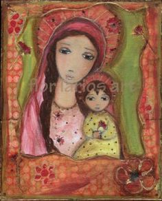 Madonna and Child, by Hispanic Artists