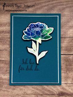 jpp - Blüten-Karten mit Brusho / Aquarell / aquapainting / watercoloring / Stampin' Up Berlin / Alles wird gut  www.janinaspaperpotpourri.de