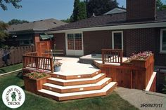 deck ideas | this deck plan is for a large two level deck with a privacy screen and ...