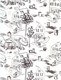 If It's Hip, It's Here (Archives): Twisted Toile: Witty Wallpaper & Home Accessories With A Modern Toile.