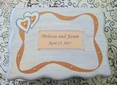 Personalized Wedding Box Hand-painted by simpletreasures4you