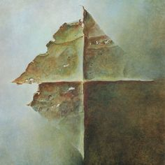 Last painting of Zdzisław Beksiński - finished on the day of his death, Feb 21, 2005