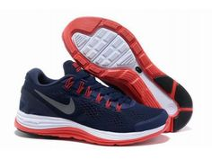 Men's Nike LunarGlide 4 - Navy Blue/Red - <3 Nike Running Shoes Store Offers Cheap Nike Free Runs, Nike Air Max, Nike Frees, Nike Free Run 2, Nike Free Run3 For Women, Men And Kids In Nike Free Run Store.Welcome to Choose your favorite one at www.freerun2u.com.