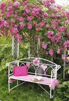 Magic Garden, Garden Paths, Pink Garden, Dream Garden, Garden Crafts, Garden Projects, Beautiful Gardens, Beautiful Flowers, Shabby Chic Garden