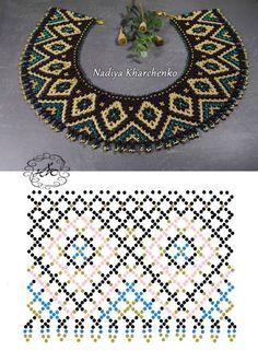 Natali Khovalko #bisuteria #bisuterias #bisuteriamujer #pendientes #bisuteriaplata #bisuteriademoda Diy Necklace Patterns, Seed Bead Patterns, Beaded Bracelet Patterns, Beading Patterns, Seed Bead Jewelry, Bead Jewellery, Jewelry Making Beads, Motifs Perler, Loom Beading