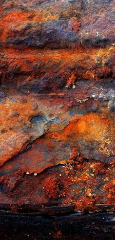 Rust by Bill Mangold I prefer the realism of this actual rust to the similar colours and textures in Turner's paintings. Texture Metal, Art Texture, Texture Design, Texture Painting, Natural Texture, Texture Photography, Abstract Photography, Levitation Photography, Pattern Photography
