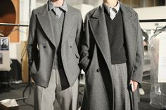 playing with proportions, London Men's Fashion Week: E. Tautz Fall/Winter 2015 // menswear grayscale fashion + style