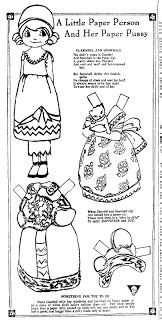 Claribel and Her Cat Snowball, 12 Jan 1934 | Mostly Paper Dolls