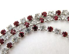 Hey, I found this really awesome Etsy listing at https://www.etsy.com/listing/91446039/vintage-rhinestone-chain-ruby-crystal