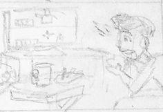 I'm working on some joirnal comics of me doing slice of life stuff while I catch up on some webcomic work. . . . #sketchbook #cartoonist #comicartist #doodles #traditional #conceptualartwork #process