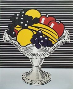 roy lichtenstein Still life with crystal bowl 1973 magna on canvas more about Lichtenstien here: http://www.theartstory.org/artist-lichtenstein-roy.htm