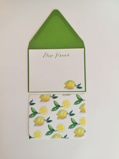 Bright and fun #lemon personalized stationery set. The perfect hostess or bridesmaids gift I Shop now at www.BoutiqueBachelorette.com