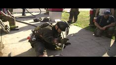 Learn to Crawl Fire Training Firefighter Tools, Firefighter Training, Firefighter Paramedic, Volunteer Firefighter, Fire Dept, Fire Department, Fire Training, Fire Video, Light My Fire