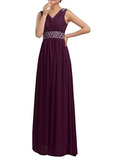 Huafeiwude Women's V Neck Chiffon Floor Length Long Evening Dress Plum US 6 Huafeiwude http://www.amazon.com/dp/B0154N7FG4/ref=cm_sw_r_pi_dp_DXidwb1G6T2YS