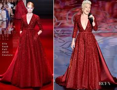 Pink In Elie Saab Couture – Oscars 2014 Performance