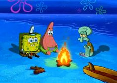 gif cartoon spongebob spongebob squarepants patrick squidward Nickelodeon campfire= ok let's be honest, how many of us can actually sing the campfire song? Spongebob Logic, Cartoon Logic, Spongebob Squarepants, Spongebob Patrick, Funny Memes, Hilarious, Funny Shit, Funny Stuff, Funny Logic