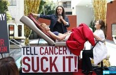 Kathy Griffin's public pap smear...get a pap every year.
