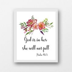 Psalm 46:5 God is in her she will not fall instant download | Etsy