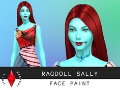 The Sims 4 'Nightmare Before Christmas' Sally face paint. The paint covers the entire body and includes lipstick as well as stitches. Download here (updated Oct.11)