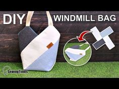 Newest Totally Free sewing tutorials easy Concepts DIY WindMill Tote Bag Free Sewing Pattern + Video Bag Patterns To Sew, Sewing Patterns Free, Free Sewing, Sewing Tutorials, Sewing Projects, Pattern Sewing, Free Pattern, Wallet Pattern, Diy Tote Bag
