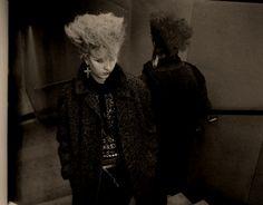 "Teased wedge hair with flying bang - ""Frankfurt, 1986"" by Hubert Gloss - www.post-punk.com"