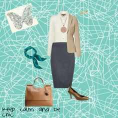 """""""keep calm be chic"""" by lizmau on Polyvore"""
