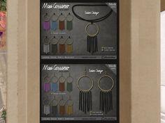 MAXI GOSSAMER ACCESSORIES - necklace/earrings, 288L/188L