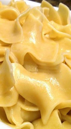 Hot Buttered Noodles (boiled in chicken broth with butter, salt & garlic powder)