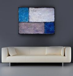 Textured impasto large canvas Painting modern by baronvisi on Etsy, £125.00