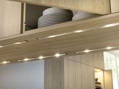 undercabinet lighting is low-profile LED (light-emitting diode) strip lights. LED lighting technology is continually advancing, so check with your local lighting retailer or electrical contractor to see what is the best option for your kitchen. Prices vary depending on size and quality, but you can currently get 12-inch strips starting around $20.