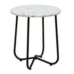 Tiffany Side Table - Marble (Black Base)