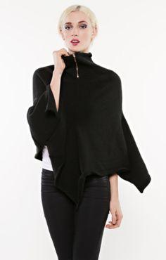 Zipper Cape - Organic by Myrrhia Fine Knitwear