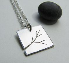 Branch sterling silver pendant by silentgoddess on Etsy, via Etsy.