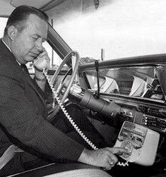 Car Phones in the (Oh my gosh! Keep your eyes on the road talking on that. Cars were heavy, not like many today. How long was the hard-wired phone line? Old Cell Phones, Old Phone, Vintage Phones, Vintage Telephone, Radios, Ghost In The Machine, Interesting History, Old Tv, Retro Futurism