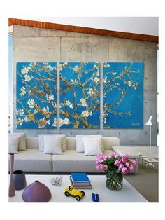 Almond Blossom by Vincent Van Gogh (Canvas) by iCanvas at Gilt