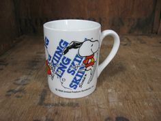 Snoopy Mug, Vintage Snoopy Mug, 1970s Snoopy Mug, Snoopy Collectible, Snoopy And…