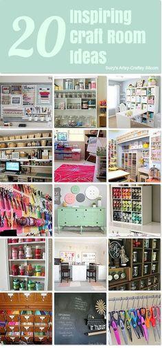 20 Inspiring Craft Room Organization Ideas by gladys Sewing Room Organization Sewing Room Organization, Craft Room Storage, Scrapbook Organization, Organization Ideas, Organizing Tips, Craft Room Organizing, Craft Room Closet, Organising Ideas, Paper Storage