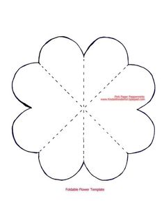 Paper Flower Templates Printable Paper flowers tutorial Jennifer Grace Creates Foldable Paper Heart Flower Book Card 31 Crafty Flowers in 31 Days Fifi Best Images of Paper Flower Templates Printable Free - Paper Flower Templates, Printable F Giant Paper Flowers, Paper Roses, Fabric Flowers, Paper Flower Patterns, Paper Flower Tutorial, Heart Template, Flower Template, Fathers Day Crafts, Templates Printable Free