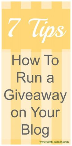 7 Tips On How To Run a Giveaway on Your Blog - Thinking Outside The Sandbox